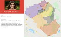 Interaktive Karte der Wahlbezirke mit den WahlbezirksbetreuerInnen